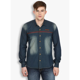 Stylox Men's Denim Blue Shirt(213), 38