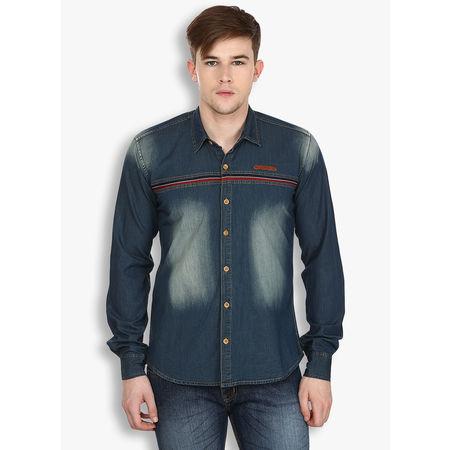 Stylox Men s Denim Blue Shirt(213), 38