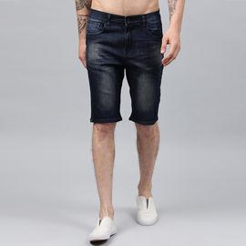 Stylox Men Blue Stretchable Denim Shorts-SHORT-RSTNT-4140-02, 32