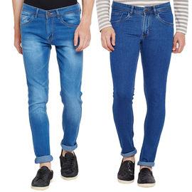 Stylox Men's Stylish Slim Fit MultiColor Casual Wear Jeans-DNM-COMBO2-1012-1001, 30