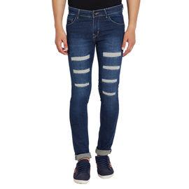 Stylox Men's Premium Stretchable Slim Fit Casual Wear Mid Rise Rough Jeans-DNM-BRDM-4060, 30
