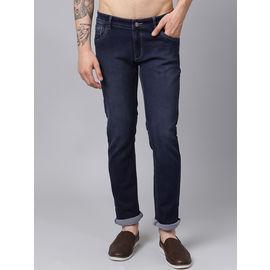 Stylox Men Blue Slim Fit Stretchable Mid Rise Jeans-DNM-ODB-4124, 32