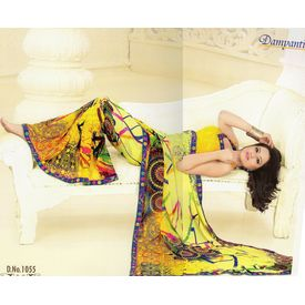 Printed Designer Fancy Saree -s042damyakok
