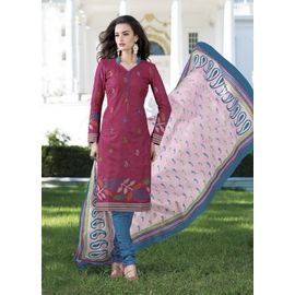 Stylish Daily Wear Pink Cotton Salwar Suit