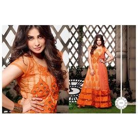 Dark orange and beige anarkali Suit