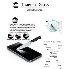 Tempered Glass Screen Guard protector For Samsung, Apple, Blackberry, HTC, LG, Nokia, Sony, max, Miromax, OnePlus, Xiaomi MI, Motorola, Nexus, Lava, xiaomi red mi 1s