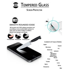 Tempered Glass Screen Guard protector For Samsung, Apple, Blackberry, HTC, LG, Nokia, Sony, max, Miromax, OnePlus, Xiaomi MI, Motorola, Nexus, Lava, nokia lumia 530