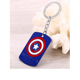 Captain America Badge Keychain