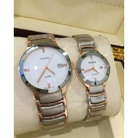 Imported RADO Jublie DaiStar SILVER COPPER WHITE Couple Watch