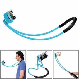 lazy hang neck phone support, 360 Degree Rotation Flexible multi-function Creative Mobile Phone Holder Desktop Bed Car Lazy Bracket Mobile Stand Support All Mobiles (Blue)
