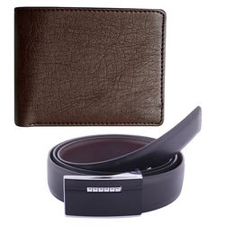 Branded Belt and Wallet Combo