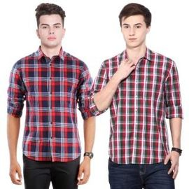 Combo of 2 Export Surplus Branded Casual Shirt, s