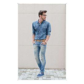 Combo of Export Surplus Branded Denim shirt and Branded Jeans, 30, medium