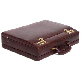 WildHorn 100% Genuine Leather Premium Briefcase Attache Bag| Office| Meeting (WHBRF006)