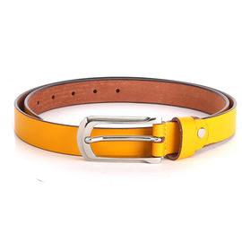 WILDHORN NEW YELLOW HIGH QUALITY GENUINE WOMEN' S LEATHER BELT, 178-42, 32