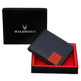 WILDHORN NEW BLUE HIGH QUALITY GENUINE MEN' S LEATHER WALLET… 1003