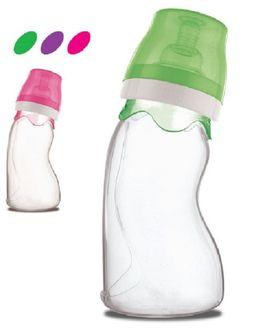 FARLIN Silicon Angle shaped feeding bottle 240 cc - GREEN