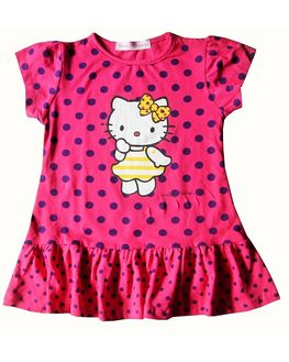 Hello Kitty Pink Polka dress, 6-9 m