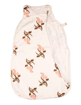 Organic Muslin Sleeping Bag for Babies, pink