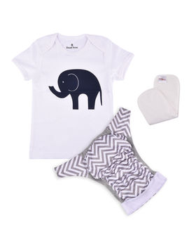 Bdiapers Diaper Cover+ T-shirt Set with 1 Insert, Jumbo Plain, medium  6-11 months