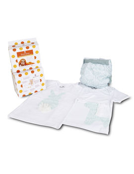 Bumchum Hybrid Paisley Cover with 2 Matching T-shirt and 24 Disposable Nappy Pad, 6 months - 12 months