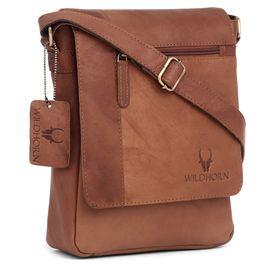 WildHorn 100% Genuine Leather Messenger Bag DIMENTION- DIMENSION: L- 8.5inch H- 10inch W- 3inch