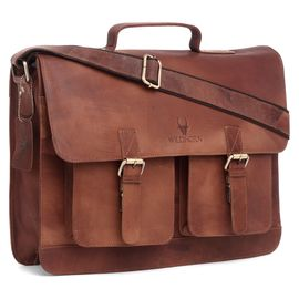 WildHorn 100% Genuine Leather (16inch) Laptop Messenger Bag DIMENSION: L- 16inch H- 12inch W- 3inch