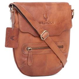 WildHorn 100% Genuine Leather Men's Messenger Bag (TAN)