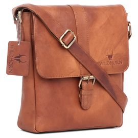 WildHorn 100% Genuine Leather Men's Messenger Bag (TAN)