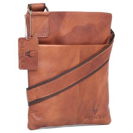WildHorn 100% Genuine Leather Men s Messenger Bag (TAN)