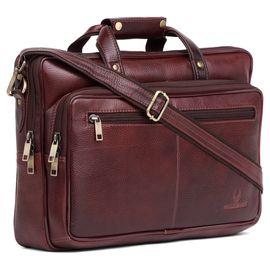 WildHorn 100% Genuine Leather Laptop Messenger Bag