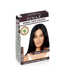 Synaa Herbal Hair Color Brown, Henna+ Herbs - No PPD (80g)