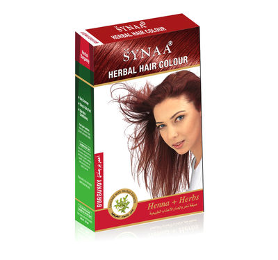 Synaa Herbal Hair Color Burgundy, Henna+ Herbs - No PPD (80g)