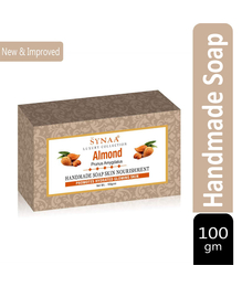 Synaa Almond Handmade Soap for Hydrated Glowing Skin, Enriched with Almond (100g)