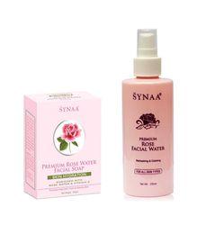 Synaa Rose Water & Rose Water Soap - Premium (Combo Pack - 365g)