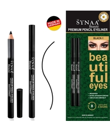 Synaa Premium Pencil Eyeliner - Black-1 (Pack of 2 - 2x1.14g)