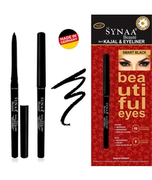 Kajal Eyeliner Combo - Synaa 2in1 Smart Black (0.35g) Made in Germany