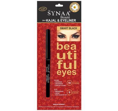 Synaa 2in1 Kajal & Eyeliner - Smart Black (0.35g)