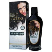 Neem Wood Comb Worth Rs. 100/- Free with Pack of 2 -18Herbs Herbal Hair Oil 50ml Prevent Hair Loss, Split Hair, Early Graying
