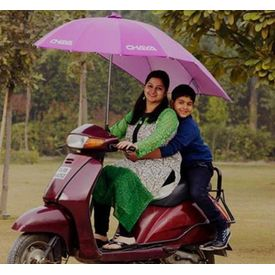 Umbrella for Two Wheeler Scooters, sky blue
