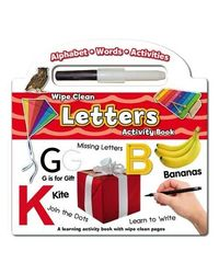Wipe Clean Activity Book- Letters: Colouring & Activity (Wipe Clean Books with Pen)