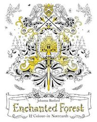 Enchanted Forest: 12 Colour- in Notecards