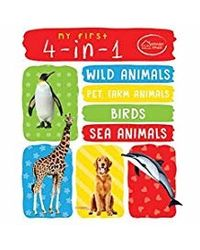 My First 4- in- 1 One Wild Animals, Pet and Farm Animals, Birds, Sea Animals: Padded Board Books