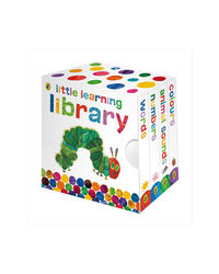 Little Learning Library: Animal Sounds, Words, Numbers & Colours (Set Of 4 Books)