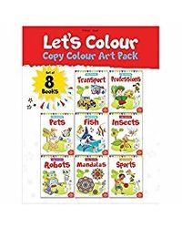Let's Colour Copy Colouring Pack: Set Of 8 Books