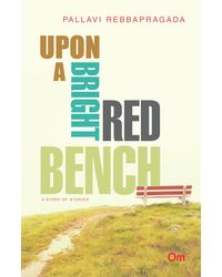 upon a bright red bench