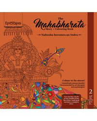 Mahabharata Story+ Colouring Book 2- Nahusha Becomes an Indra