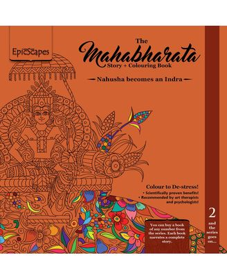 Mahabharata Story+ Colouring Book 2- Nahusha Becomes an Indra