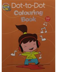 Dot- To- Dot Colouring Book Level 3&4