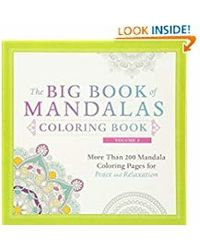 The Big Book of Mandalas Coloring Book, Volume 2: More Than 200 Mandala Coloring Pages for Peace and Relaxation